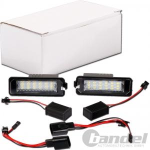 2x LED KENNZEICHENLEUCHTE für VW EOS GOLF V+VI POLO (6N,6R,9N) PASSAT B7