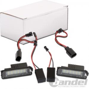 2x LED KENNZEICHENLEUCHTE für VW GOLF 4 5 6 SCIROCCO EOS NEW BEETLE