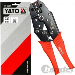 YATO CRIMPZANGE RATSCHEN PRESSZANGE für ISOLIERTE Quetschverbinder Kabelschuhe
