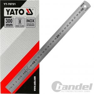 YATO EDELSTAHL LINEAL 300mm STAHLLINEAL METALLLINEAL SCHULLINEAL WERKSTATT