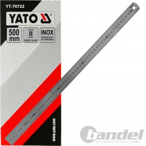 YATO EDELSTAHL LINEAL 500mm STAHLLINEAL METALLLINEAL SCHULLINEAL WERKSTATT