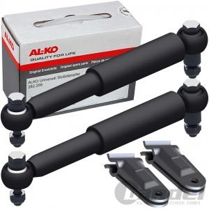 AL-KO Universal Achsstoßdämpfer Stoßdämpfer SET mit HALTER PKW-Anhänger 100km/h