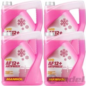 20 Liter Antifreeze AF12+ Kühler Frostschutz bis -40°C für G12+/ plus