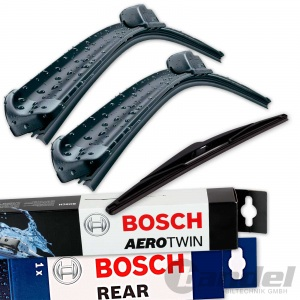 BOSCH AEROTWIN SCHEIBENWISCHER VORNE + HINTEN BMW X3 E83 Bj. 2004 - 2010