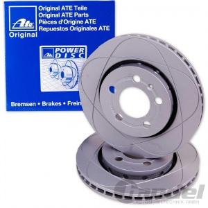 2x ATE POWER DISC BREMSSCHEIBE HINTEN BMW 1 (E81 E87) BMW 3 (E90 E93 E92 E91)