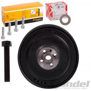RIEMENSCHEIBE KURBELWELLE + SCHRAUBEN + DIAMANTSCHEIBE VW T4 2.5 TDI 2.4 D BUS