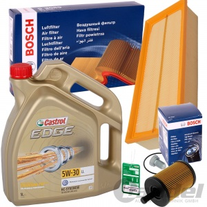 BOSCH FILTER SET+CASTROL EDGE 5W30 1.9 2.0 TDI VW GOLF V PASSSAT 3C TOURAN 1T1