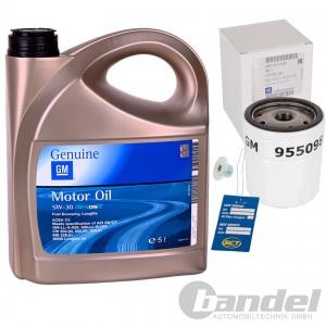 ORIGINAL GM OPEL MOTORÖL+ÖLFILTERl 5W30 5W-30 Dexos2 LongLife 5 Liter 650104