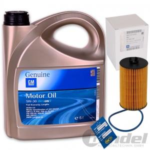 5 Liter ORIGINAL GM OPEL 5W-30 Dexos2 LongLife MOTORÖL 5W30 + ÖLFILTER 95526685