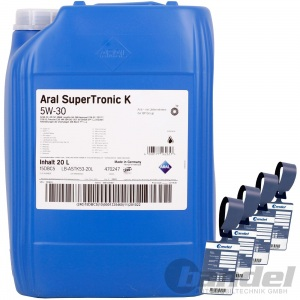 20L ARAL SuperTronic K 5W-30 BMW LL-04 MB 229.51 VW 50400 50700 LL III