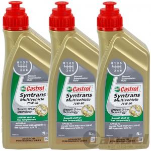 3 Liter CASTROL SYNTRANS MULTIVEHICLE 75W-90 GETRIEBEÖL SCHALTGETRIEBEÖL 3L