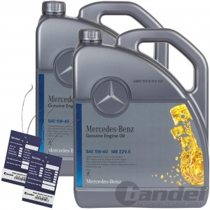 10L ORIGINAL OE 5W40 MERCEDES SYNTHETIC MOTORÖL 2x5Liter ÖL 229.5 + ÖLZETTEL