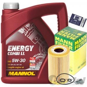 MANN ÖLFILTER+MANNOL ENERGY LL 5w30 AUDI SEAT SKODA VW 1.6 + 2.0 TDI
