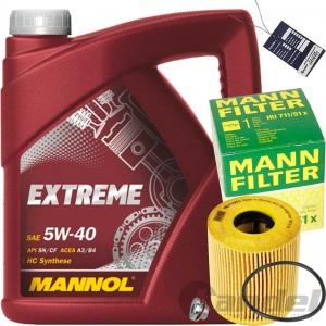 MANN ÖLFILTER+MANNOL 5W40 ÖL CITROEN C4+C5 JUMPY PEUGEOT 508 407 307 308 607