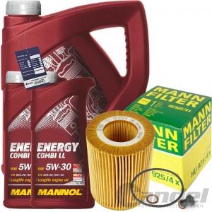 MANN ÖLFILTER+7L MANNOL ENERGY 5W30 BMW 3er E36 E46 5er E39 Z4 E85 X5 E53 X3 E83