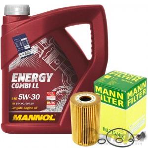 MANN ÖLFILTER+5L MANNOL ENERGY 5w30 BMW 3er E36 + E46 + 5er E34 + Z3 E36