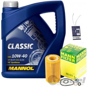 MANN ÖLFILTER+5L MANNOL 10W40 RENAULT TWINGO 1 KANGOO CLIO 2