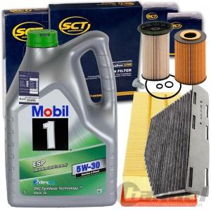 FILTERSET PAKET+MOBIL 1 ESP 5W30 ÖL 1.6+2.0 TDI TOURAN PASSAT GOLF 6 CADDY