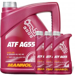 HYDRAULIKFILTER+MANNOL ATF AG 55 ÖL 6 GANG AUTOMATIK ASIN 09K VW T5 BUS MULTIVAN Pic:3