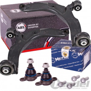 2x ABS QUERLENKER VORNE LINKS/RECHTS + MEYLE HD TRAGGELENKE VW TRANSPORTER T5 T6