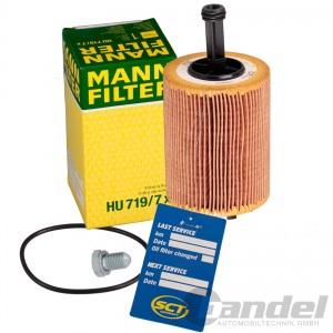 MANN ÖLFILTER+5W30 ÖL TDI VW TOURAN PASSAT 3C GOLF 5 AUDI A3 8P A4 B8 A6 C6 Pic:1