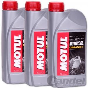 3x 1L MOTUL MOTOCOOL FACTORY LINE KÜHLMITTEL Kühlflüssigkeit ROT Moto