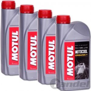 4x 1L MOTUL MOTOCOOL FACTORY LINE KÜHLMITTEL Kühlflüssigkeit ROT Moto