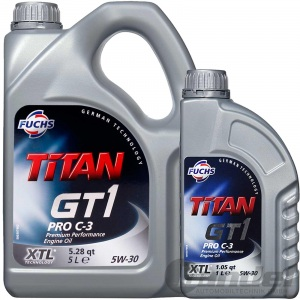 6L FUCHS MOTORÖL TITAN GT1 PRO C-3 5W30 LONGLIFE LL-04 VW 50400 50700 MB 229.51
