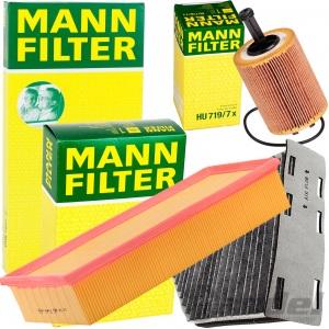 MANN FILTERSET 1.9/2.0 TDI VW GOLF 5+6 TOURAN TIGUAN PASSAT 3C AUDI A3 8P TT