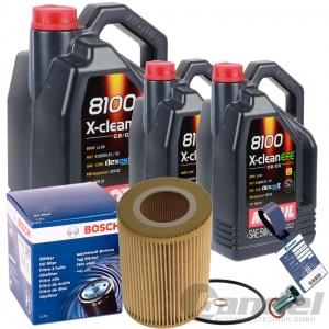 BOSCH ÖLFILTER + 7L MOTUL X-CLEAN EFE 5W-30 BMW 3er E36 E46 5er E39 7er E65 E66