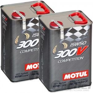 2x 5L MOTUL 300V COMPETITION ESTER Core 15W-50 SYNTHETISCH RACING MOTORÖL