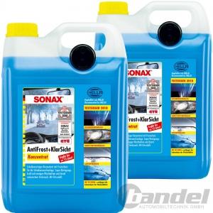 2x 5 Liter SONAX ANTIFROST+KLARSICHT KONZENTRAT SCHEIBEN FROSTSCHUTZ CITRUSDUFT