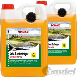 2x 5 Liter SONAX SCHEIBENREINIGER SOMMER CITRUS GEBRAUCHSFERTIG WISCHWASSER