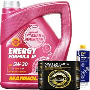 4L MANNOL MOTORÖL ENERGY FORMULA JP SAE 5W30+MOTOR LIFE EXTENDER+OIL-LEAK STOP