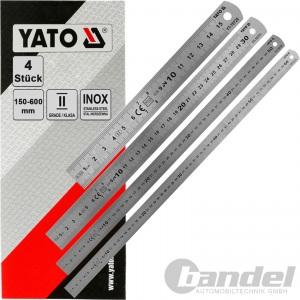 4 YATO EDELSTAHL LINEAL 150-600mm STAHLLINEAL METALLLINEAL SCHULLINEAL WERKSTATT