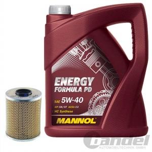 ÖLFILTER SCT SH410P + 5 Liter Motoröl MANNOL ENERGY FORMULAR PD 5W-40 BMW LL-04