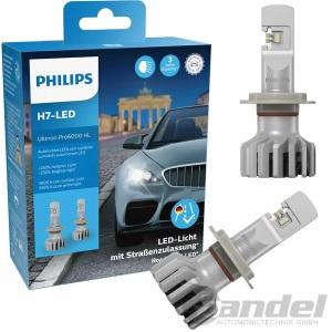 2x PHILIPS ULTINON Pro6000 H7 LED STRAßENZULASSUNG PX26d 12V +230% LED LAMPEN