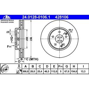 ATE BREMSSCHEIBEN + CERAMIC BELÄGE VORNE MERCEDES C-KLASSE W203 S203  CLK C/A209 Pic:1