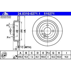 2x Bremssattel Bremsbeläge hinten Mini R50 R53 R52 Bremsscheiben 259mm
