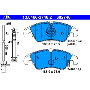 2 ATE Bremsscheiben vorne 345mm Audi A4 A5 Q5