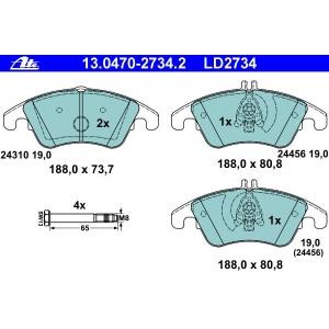ATE Ceramic Bremsbeläge vorne Mercedes C-Klasse Cls E-Klasse Slc Slk
