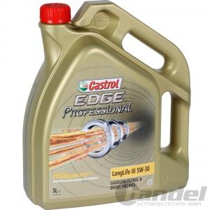 [8,10€/L] 5 LITER CASTROL EDGE PROFESSIONAL LONGLIFE III 5W-30 FST - 50400/50700