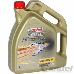 5 LITER CASTROL EDGE PROFESSIONAL LONGLIFE III 5W-30 FST - 50400/50700