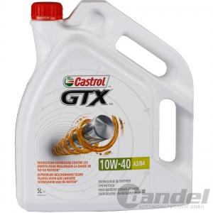 5L CASTROL GTX MOTORÖL 10W-40 A3/B4 FIAT MERCEDES 229.1 VW 50101 50500