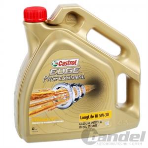 [8,73€/L] 4 LITER CASTROL EDGE PROFESSIONAL LONGLIFE III 5W-30 FST - 50400/50700