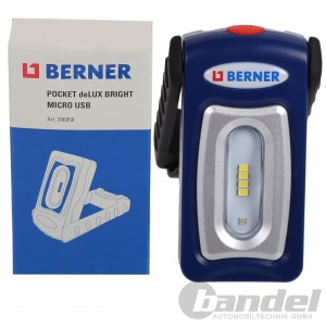 BERNER Pocket DeLUX Bright SMD LED TASCHENLAMPE WERKSTATT ARBEITS LAMPE AKKU