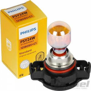 PHILIPS PSY24W SILVERVISION GLÜHLAMPE ORANGE GELB CHROM BLINKER PG20/4 SOCKEL