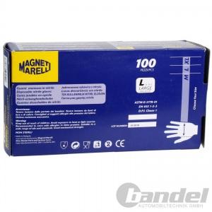 MAGNETI MARELLI ARBEITS-EINWEG-HANDSCHUHE 100 stk. NITRIL PUDERFREI Gr.L Pic:1