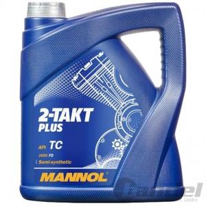 2-Taktöl MANNOL / Motoröl / Teil-Synthetiköl / Zweitaktöl / 4Liter 4L