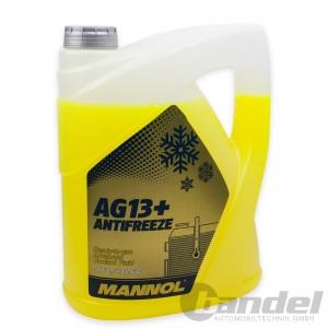 [2,60€/L] 5 LITER MANNOL AG13+ GELB bis -40°C KÜHLERFROSTSCHUTZ KÜHLMITTEL